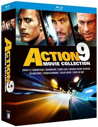 Action 9 Movie Collection (5 Disc) BLU-RAY NEW