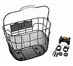 BC Bike/Cycling Front Basket - Quick Release - Black