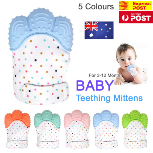 Silicone Baby Teether Teething Mitten Mitt Glove Safe BPA Free Chew Dummy Toy