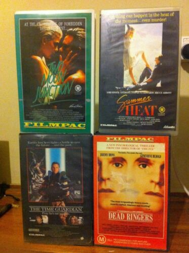 4 Filmpac VHS tapes Time Guardian Two Moon Junction Dead Ringers Summer Heat