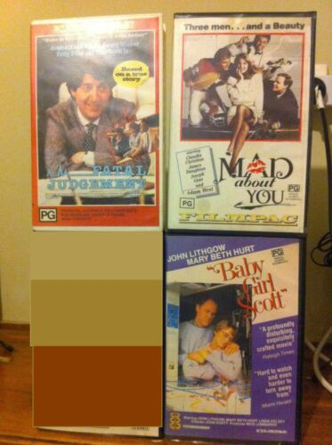 A Fatal Judgement Mad About You Baby Girl Scott 3 Filmpac VHS tapes ex-rentals