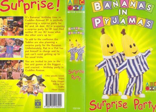 BANANAS IN PYJAMAS SURPRISE PARTY  VHS VIDEO PAL~  RARE FREE POSTAGE WHEN YOU BU