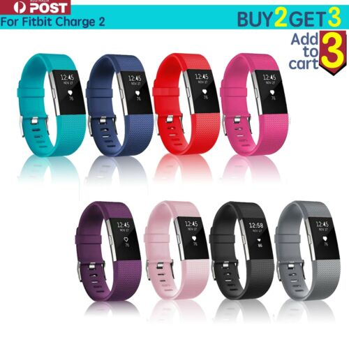 Fitbit Charge 2 Bands Replacement Silicone Wristband Watch Strap Bracelet <br/> Buy 2 Get 3 Now !!