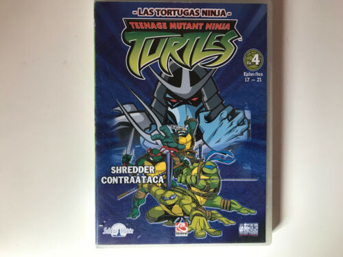 LAS TORTUGAS NINJA DVD TEENAGE MUTANT VOL 4 EPISODIOS 17-21 SHREDDER CONTRAATACA