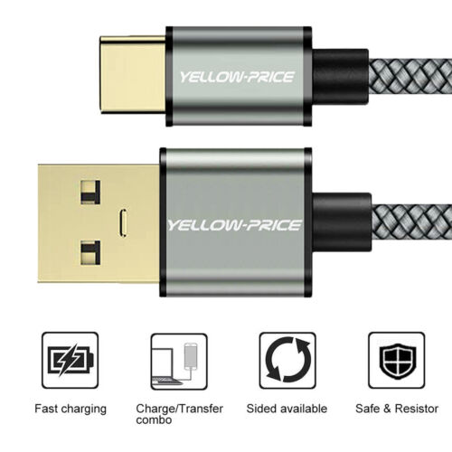 Super-Speed Data Transfer & Fast Charge USB C Cable 3.0 15CM 0.92M 1.83M LOT