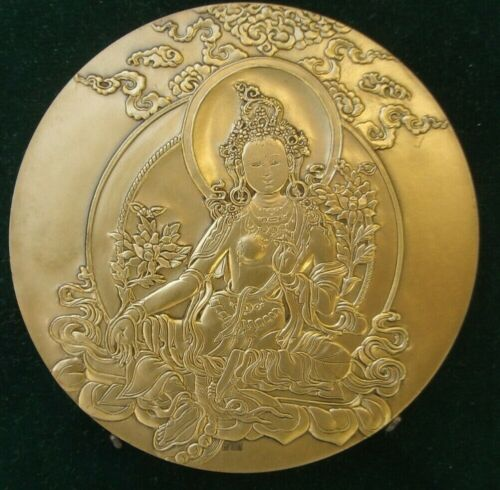 -Medaille en bronze - de la Monnaie Paris - 奖章  -Therese Dufresne- Tybet-      <br/> THERESE DUFRESNE MEDAILLE 'Tybet' XX w . 1 emisja
