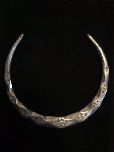 Ancient jewelry Viking Silver Torc 9th - 10th Century AD