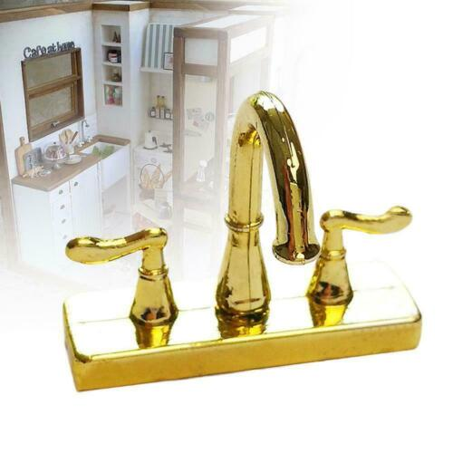 Doll House Miniature 1:12 Scale Taps For Kitchen Or Sink Bathroom Gift X0k9