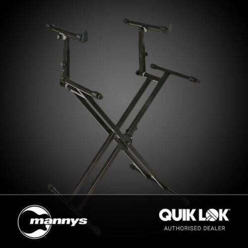 LA Heavy duty Double Braced Keyboard Stand 60Kg Capacity Quick Trigger Adjustmet