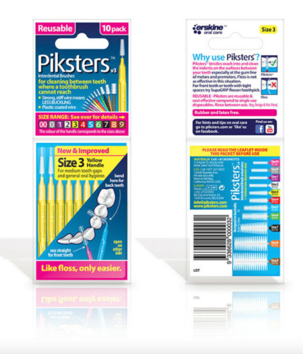 Piksters Inter Brush Size 3  (yellow) New & Sealed