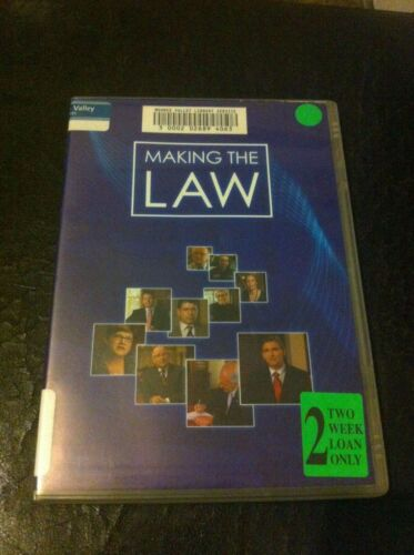 Making The Law DVD Ex-rental VG tested for VCE legal studies public servants HTF