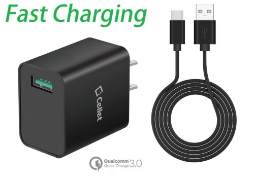 Cellet 4x Faster Quick Charge 3.0 Home Charger with Fast Charging Type-C Cable