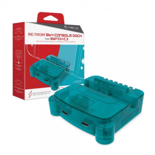 Hyperkin RetroN S64 Turquoise Dock for Switch NEW