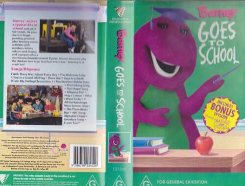 BARNEY GOES TO SCHOOL VHS VIDEO PAL~ A RARE FIND~