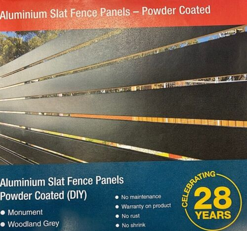 Aluminium Slat Fence Panels - Available  Woodland Grey  <br/> Slat Fencing Packages - $418 per panel