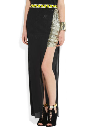 Sass & Bide Take a Hike double-layered sequin and georgette skirt F 40 UK 12