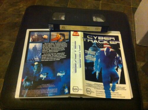 Cyber Tracker VHS video tape Sci-Fi Science Fiction action horror Cyborg HTF
