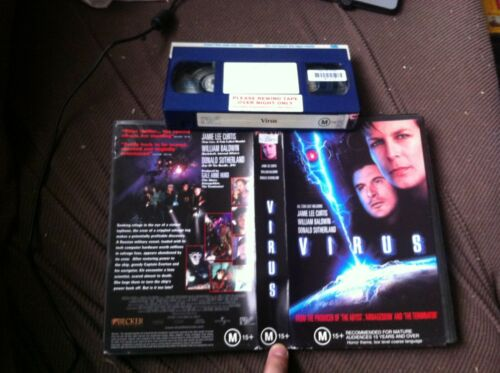 4 horror Sci-fi VHS video tapes Space Truckers, DNA, Virus and Bug Buster HTF