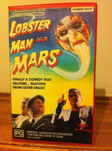 Lobster Man from Mars VHS  B-movie Spoof Sci-fi Comedy 1989 Premiere Tony Curtis