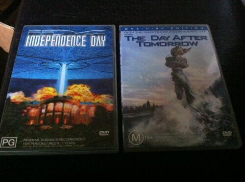 ID4 Independence Day and The Day After Tomorrow DVD Will Smith Disaster movies