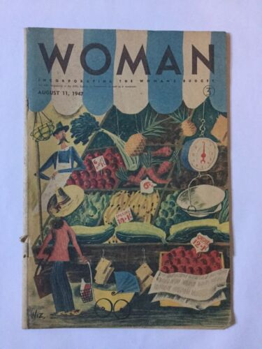 Vintage Woman Magazine August 11 1947 ( Missing Pages)