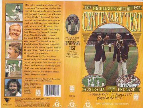 CENTENARY TEST AUSTRALIA VERSUS ENGLAND 1977 VHS VIDEO PAL~ A RARE FIND