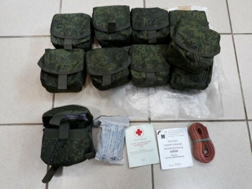 Russian Army first aid kit Ratnik medical pouch 6sh117 ISSUE digital flora EMR Other Current Field Gear - 36071