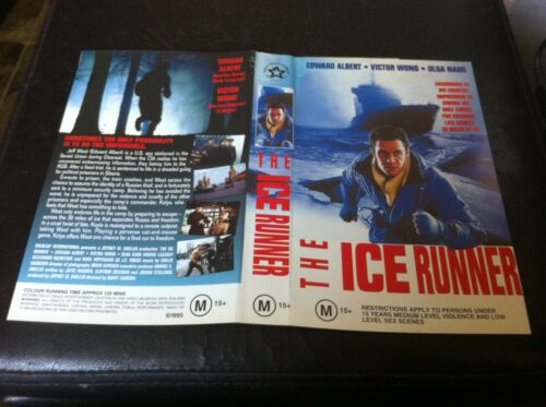 The Ice Runner VHS Ex-rental Video Tape Action CIA Soviet Cold war Two Sleeves
