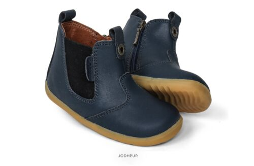 Bobux SU Jodhpur Boots In Navy Leather  ( First walkers)