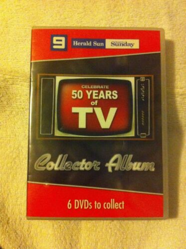 Celebrate 50 Years Of TV DVD 6-Disc Set Collector Album Herald Sun Channel 9