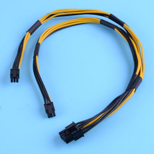 18AWG Dual Mini 6 Pin to 8 Pin Male PCI-E Power Cable fit for Mac Pro Video Card