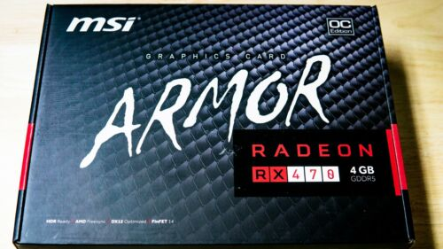 MSI Radeon RX 470 4GB Graphics Card Processor ARMOR 4G OC for Gaming