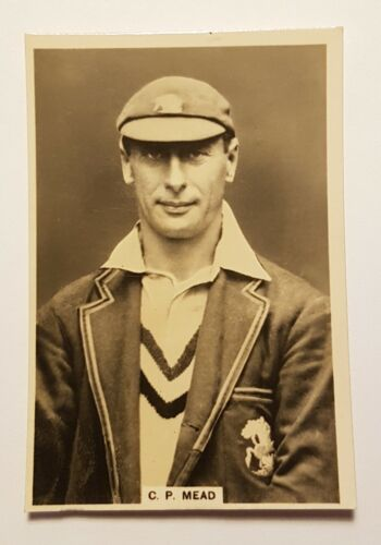 1928 era -J.Millhoff & Co Famous Test Cricketer Cards C P MEAD No 12 EFCCricket Cards - 25579