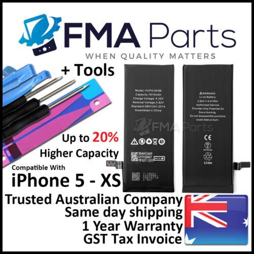 For iPhone 7 6S 6 PLUS 5 5S 4 High Capacity Internal Li-ion Battery Replacement