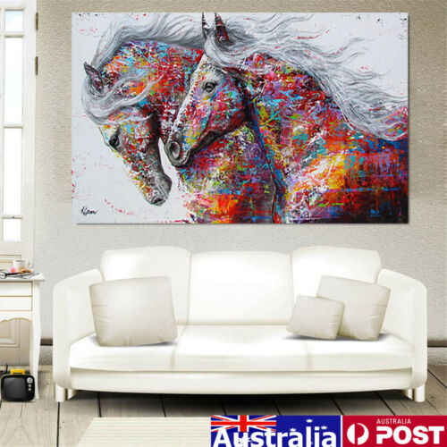 3 Size Running Horse Print Picture Unframed Canvas Art Painting Poster Wall Home