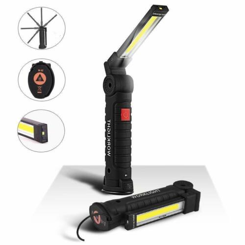 COB+LED Rechargeable Magnetic Torch Flexible Inspection Lamp Cordless Worklight