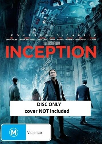 Inception (DVD) // Ex-Rental // NO COVER // DISC ONLY
