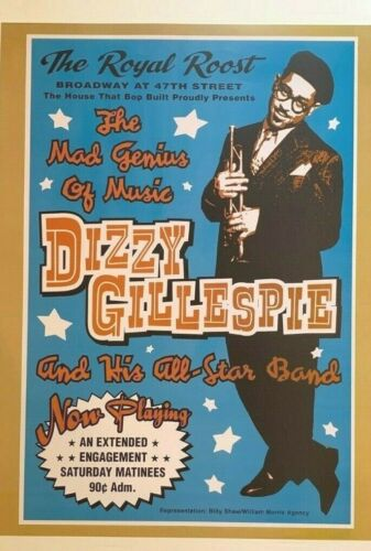 Dizzy Gillespie in Concert The Royal Roost Jazz Music 18X24 Free Shipping