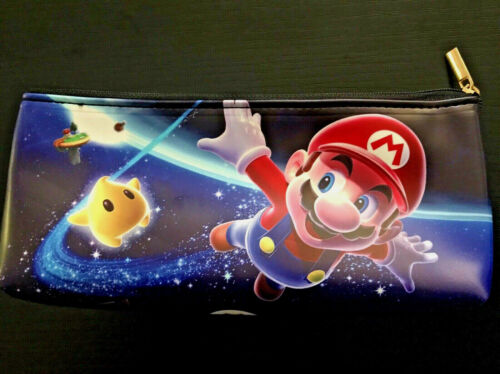 Super Mario Galaxy Pencil Case Kids School Travel Office Yoshi SNES Wii 3DS *OZ*