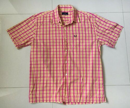 MENS FRED PERRY SHORT SLEEVE SHIRT MADE IN PORTUGAL SIZE L