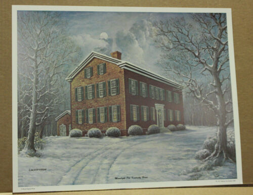 Moonlight Old Kentucky Home CW Vittitow Federal Hill Bardstown Snow Unsigned