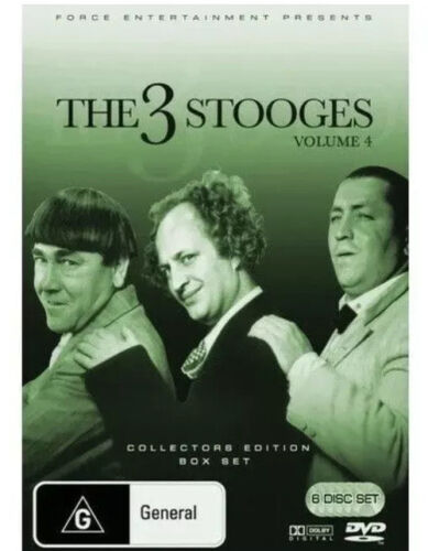 The Three 3 Stooges : Volume 4 (DVD, 2008, 6-Disc Set) New  Region 4