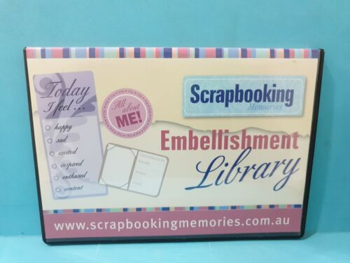 Scrapbooking Embellishment Library  🎬  DVD 🎬 FREE POST