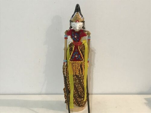 Vintage Asian Oriental Folklore Puppet Hand Painted Chinese Wooden Hand Rod