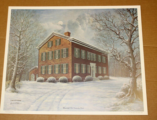 Moonlight Old Kentucky Home CW Vittitow Federal Hill Bardstown Snow Signed