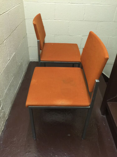 Two STEEL CASE 1960's-70's Mid Modern Chrome Chairs