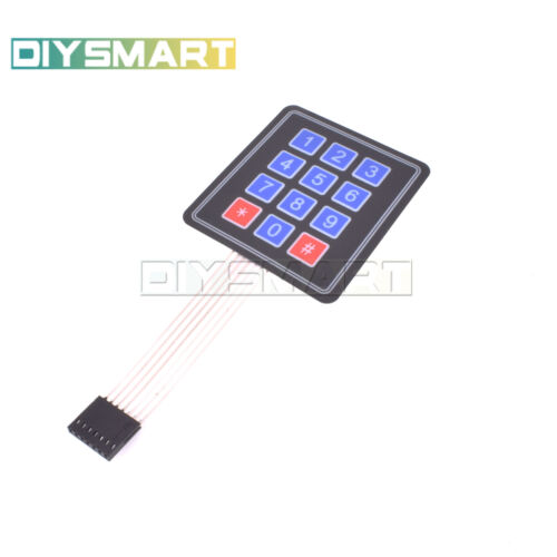 10pcs 4 X3 Matrix Array 12 Key Membrane Switch Keypad Keyboard Good Quality Au