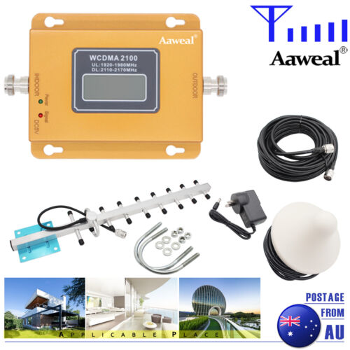 2100MHz 3G 4G Signal Booster Home Repeater Amplifier Antenna Kit for Band 1