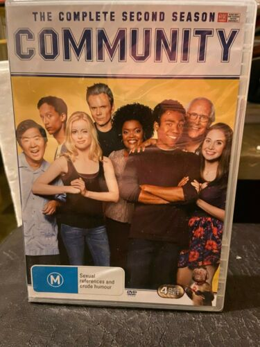 Community Complete Second Season DVD New sealed Series 2 Region 4 Four PAL