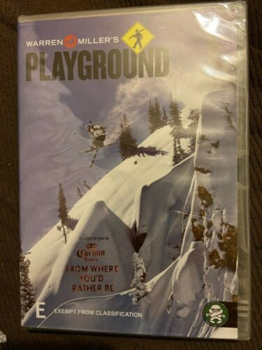 Warren Miller's Playground DVD All Region skiing boarding extreme sport action